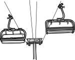 Chair Lift freehand drawings