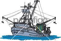 Fishing BoatFreehand Image