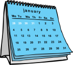 Calendars freehand drawings
