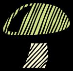 Mushroom freehand drawings