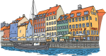 Copenhagen freehand drawings