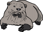 Otter freehand drawings
