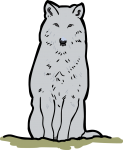 Wolf freehand drawings