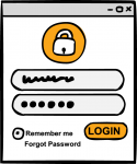 Login freehand drawings