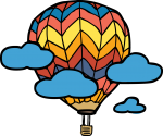 Hot Air Balloon freehand drawings