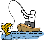 Fishing freehand drawings