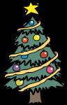 Christmas Tree freehand drawings
