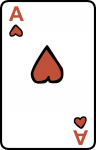 poker card freehand drawings