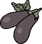 Eggplant freehand drawings