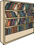Bookshelf freehand drawings