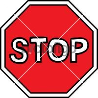Stop signFreehand Image