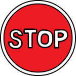 Stop sign freehand drawings