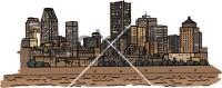 Montreal SkylineFreehand Image