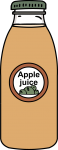 Apple juice freehand drawings