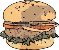 Beef BurgerFreehand Image