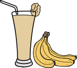 Banana juice freehand drawings