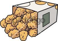 Chicken Bites PopcornFreehand Image
