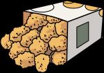 Chicken Bites Popcorn freehand drawings