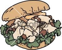 Chicken salad SandwichFreehand Image