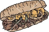 Cheesesteak SandwichFreehand Image