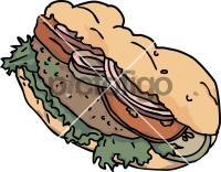 Doner kebab SandwichFreehand Image
