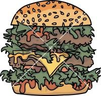 Double cheese burgerFreehand Image