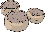 English Muffin freehand drawings