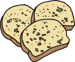 Garlic Bread freehand drawings
