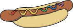 Hotdog freehand drawings