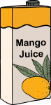Mango Juice freehand drawings