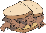 Pastrami Sandwich freehand drawings