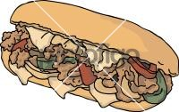 Philly Cheese Steak SandwichFreehand Image