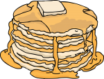 Pancakes freehand drawings