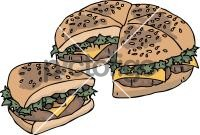 Pizza BurgerFreehand Image