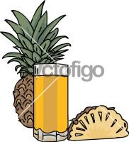 Pineapple JuiceFreehand Image