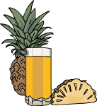 Pineapple Juice freehand drawings