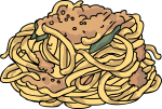 Pasta Fresh Spaghetti freehand drawings