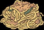 Pasta Fresh Spaghetti freehand drawings