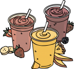 Smoothies freehand drawings