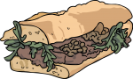 Steak Sandwich freehand drawings