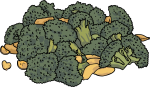 Saut�ed Fresh Broccoli freehand drawings