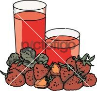 Strawberries juiceFreehand Image