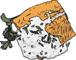 Smoked Salmon Platter freehand drawings