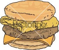 Sausage egg cheese SubFreehand Image