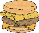 Sausage egg cheese Sub freehand drawings