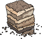 Tiramisu freehand drawings