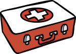 Medical-kit freehand drawings