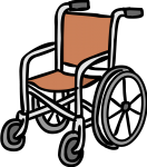 Wheelchair freehand drawings