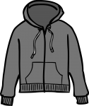 Hooded jacket women freehand drawings