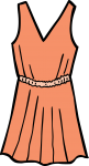 Lace dress women freehand drawings